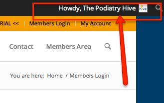 Podiatry Hive Member Logged In